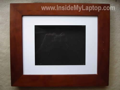 LCD screen inside frame