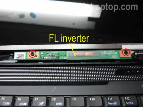 Remove screws from FL inverter board