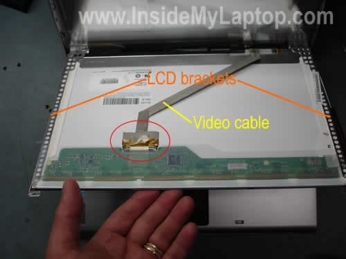 Unplug video cable remove LCD screen