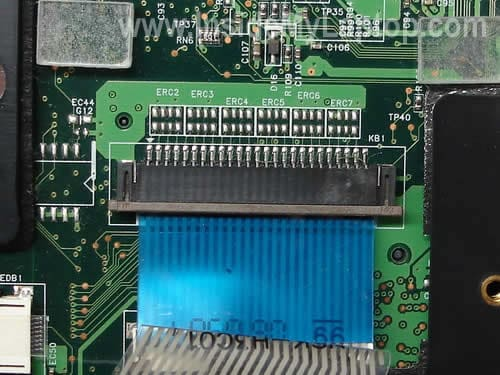 Keyboard cable connector locked