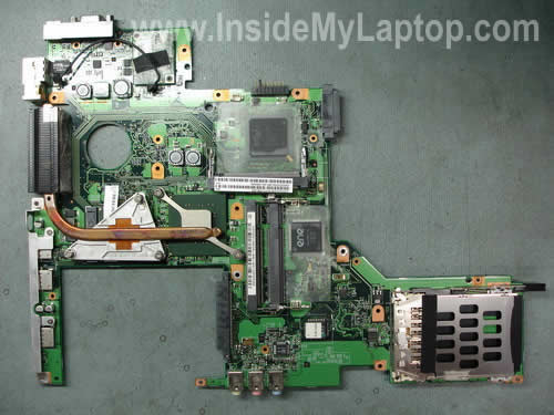 Motherboard removed