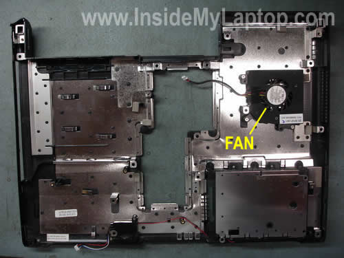 Cooling fan attached to base assembly