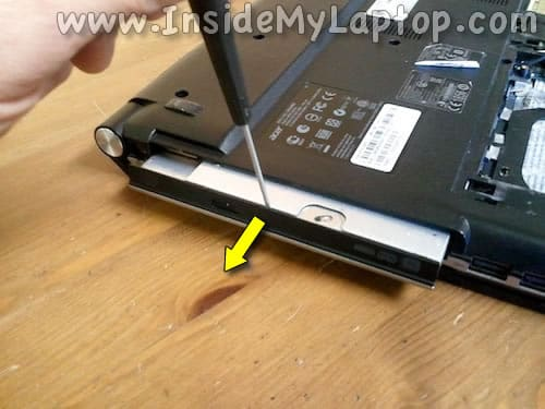 Pull optical drive out