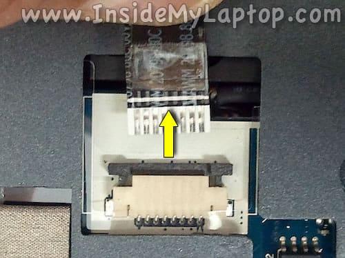 Unplug trackpad cable