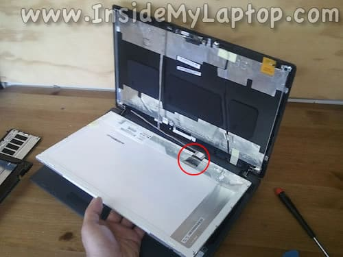 Separate LCD from cover
