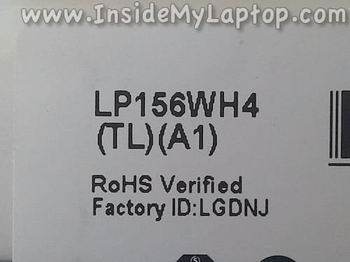New screen part number
