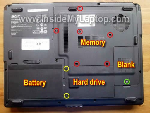 how to disassemble acer aspire 5610z inside my laptop rh insidemylaptop com acer aspire 5610 service manual acer aspire 5610 repair manual