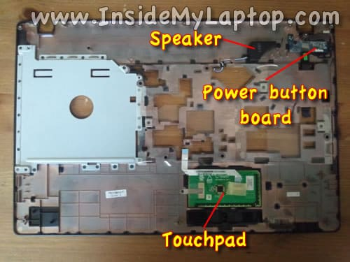 Access touchpad and power button board