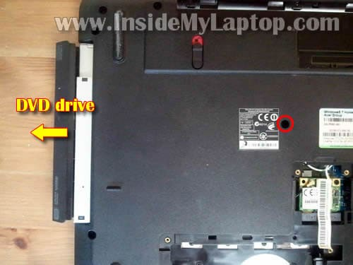 how to open dvd drive on acer laptop