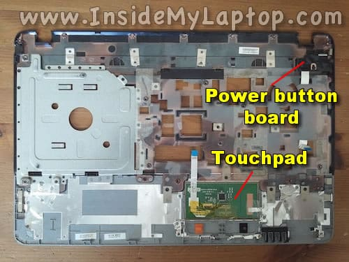 Touchpad and power button
