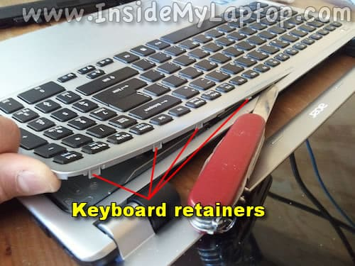 Keyboard retainers