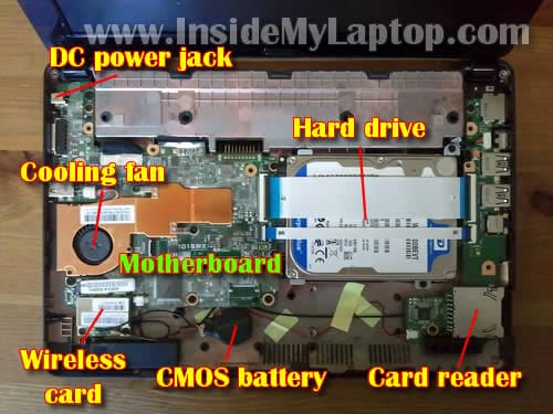 How to disassemble Asus Eee PC 1015PX netbook ...
