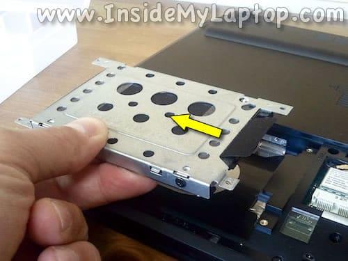 Disconnect hard drive