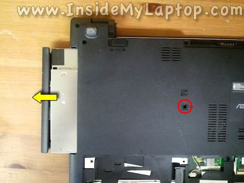Remove optical drive
