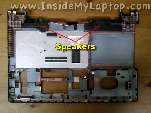 Access laptop speakers