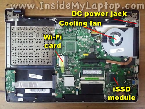 Access main internal laptop components