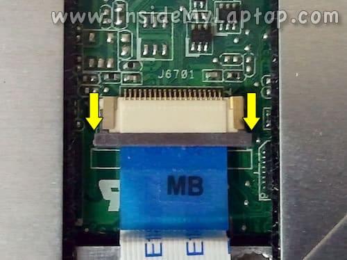Unlock trackpad connector
