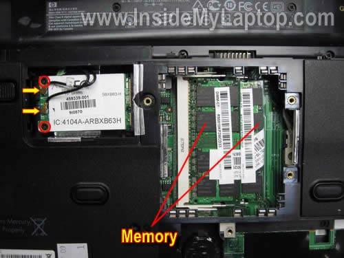 How to disassemble Compaq Presario CQ50 CQ60 CQ70 – Inside