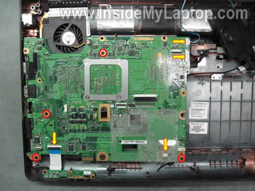 removing laptop motherboard 21 how to disassemble compaq presario cq50 cq60 cq70 inside my laptop Compaq Presario CQ60 Driver at gsmx.co