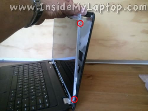 Remove screws from right side of screen