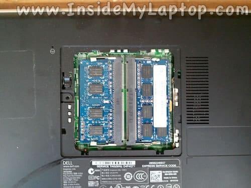 Remove right RAM module