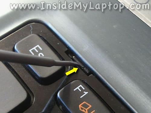 Push on keyboard latch