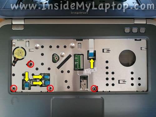 Remove top cover screws