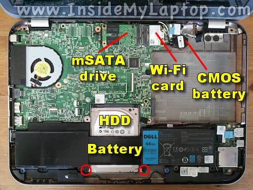 Internal laptop components