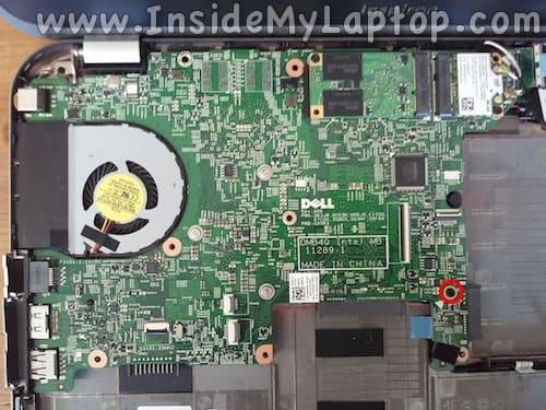 Remove motherboard screw