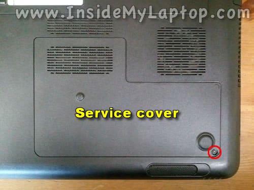 Remove service cover