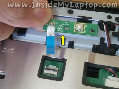 Remove power button board