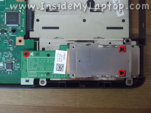 Remove screws from express card board
