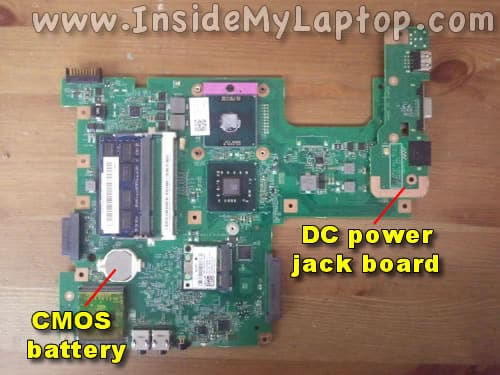 DC power jack board