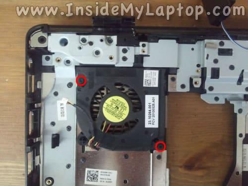 Remove screws from fan