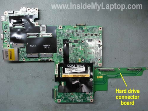Remove hard drive connector board