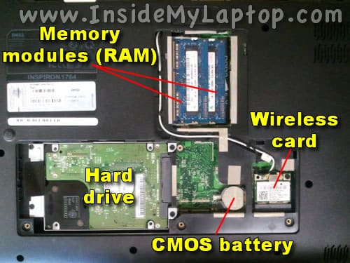 Hard drive, RAM, wireless card
