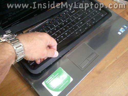 Separate keyboard bezel