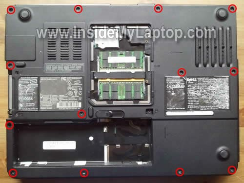 how to take apart a dell inspiron 1501