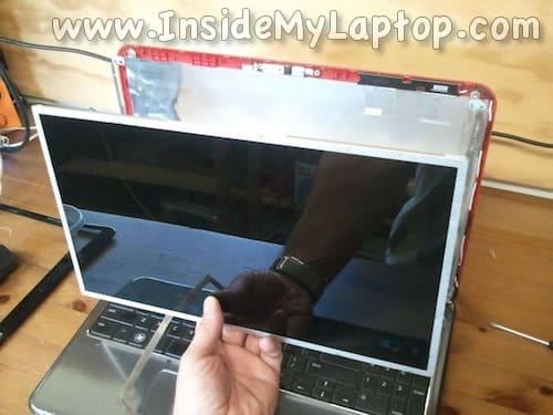 Remove damaged screen