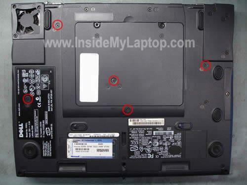 Remove keyboard screws