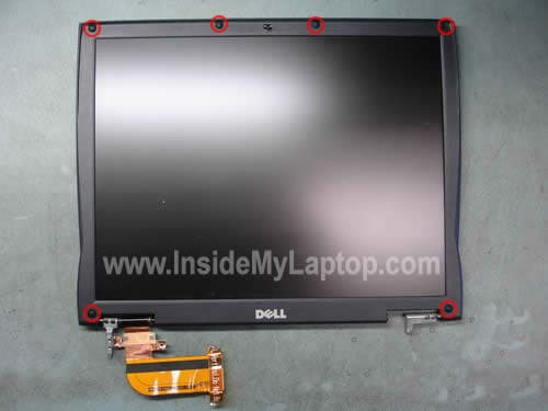 Remove screws from LCD bezel