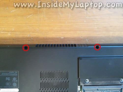 Power button panel screws