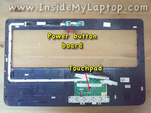 Power button board and touchpad