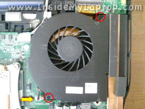 Disconnect laptop cooling fan