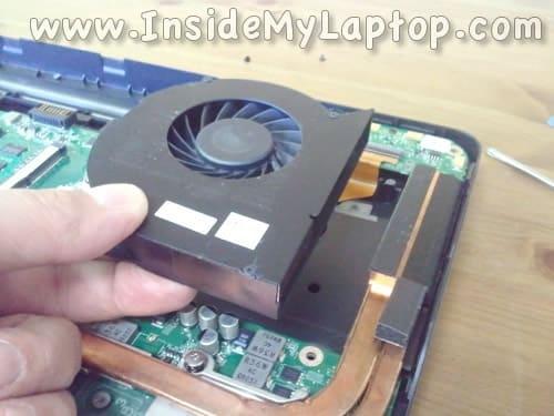 Remove laptop cooling fan