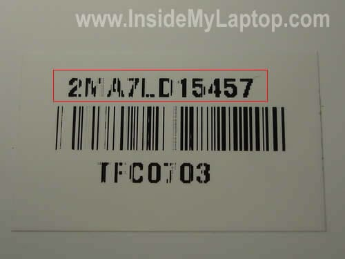 LCD screen part number