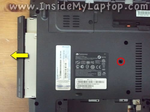 Remove laptop optical drive