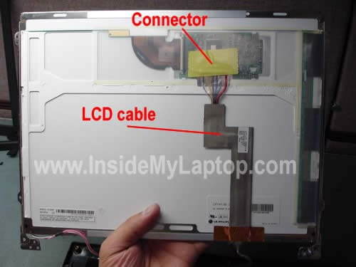 Remove LCD cable