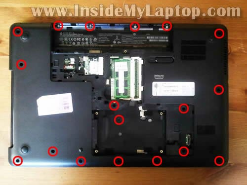 HP 2000 disassembly – Inside my laptop