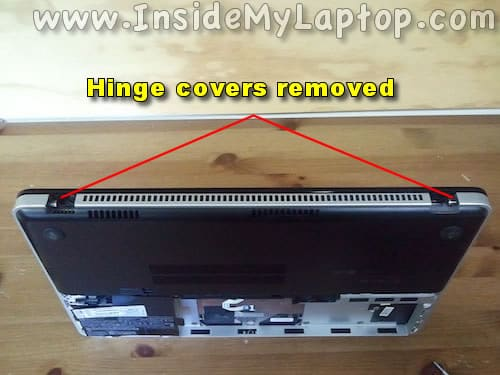 Both hinge covers removed